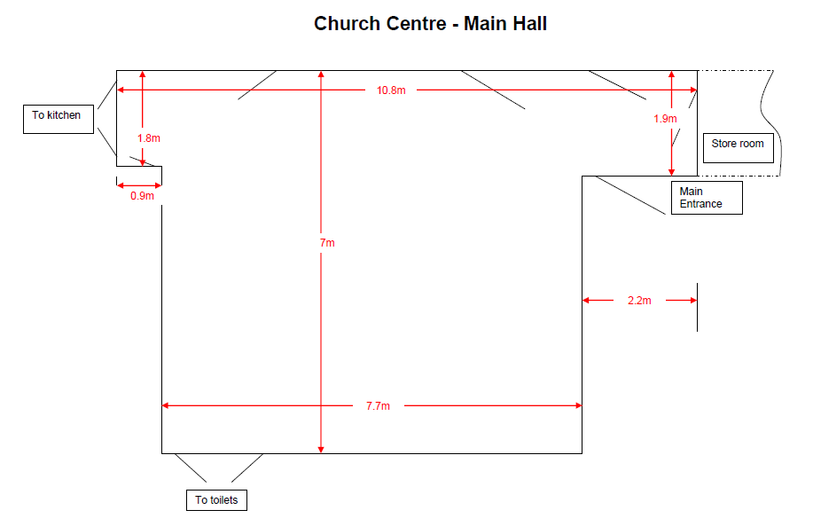 Main Hall dimensions